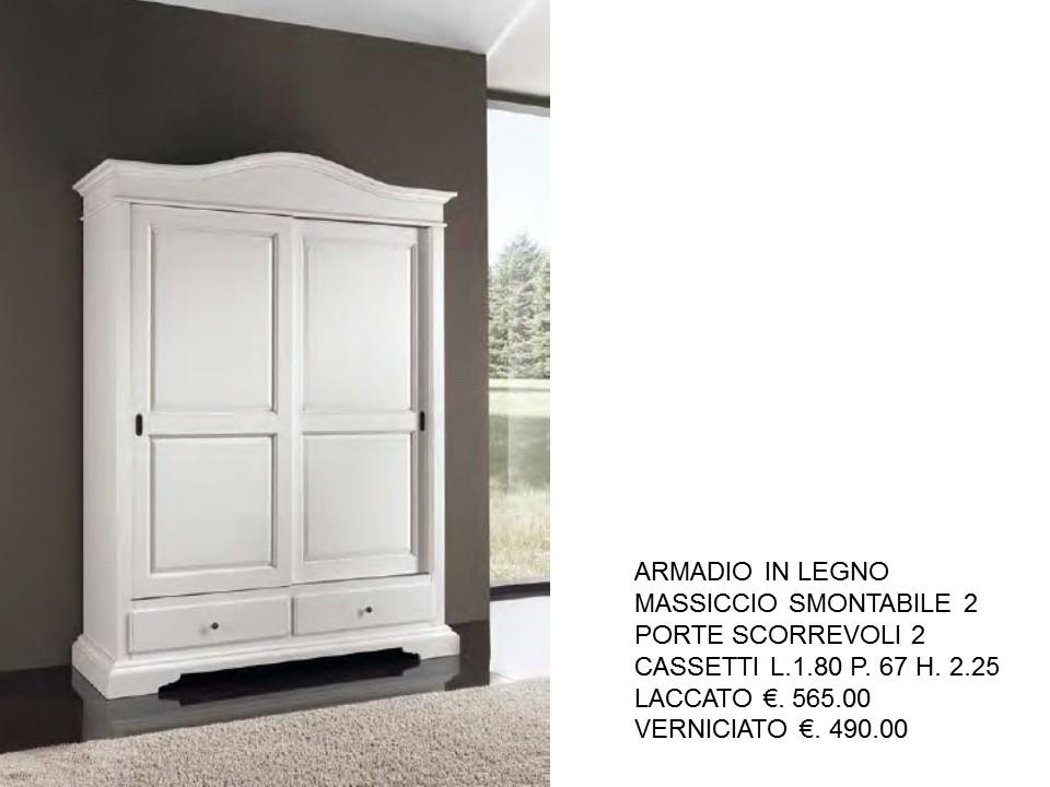 ARMADIO LACCATO BIANCO A GENDARME N. 1 C.T. OU | Falegnameria Chiola