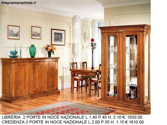 soggiorno con base e vetrina n. 18 c. to. | falegnameria chiola - Soggiorno Noce Nazionale 2