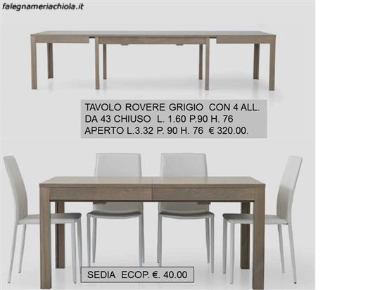 TAVOLO ROVERE GRIGIO N. 140 M.T. | Falegnameria Chiola