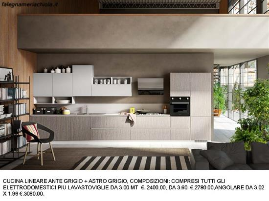 Cucine Moderne Bianco Grigio : Cucina ante grigio grigio astro n. 125 m. es. falegnameria chiola