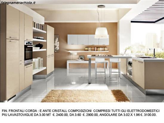 CUCINA CON BANCONE A T N. 140 M. H. | Falegnameria Chiola