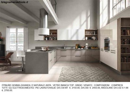 Cucina doppio angolo n 10 m h falegnameria chiola - Cucina doppio angolo ...