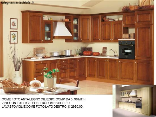 CUCINA ANGOLARE CON ANTA IN LEGNO N. 161/1 C.N. | Falegnameria Chiola
