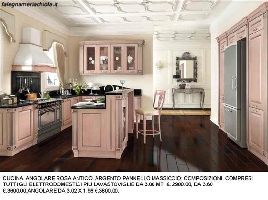 Cucina angolare rosa antico n 178 c h falegnameria chiola - Cucina 3 metri angolare ...