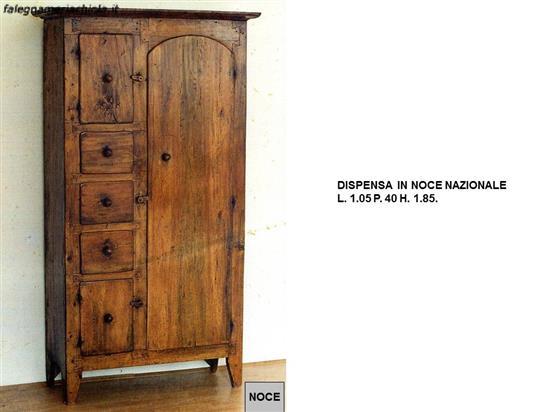 DISPENSA PER CUCINA A 1 ANTA N. 6 C.CP. | Falegnameria Chiola