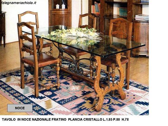 Tavoli Classici In Cristallo.Tavolo A Fratino E Plancia In Cristallo N 22 C Cp Falegnameria