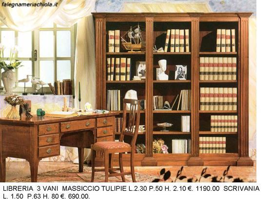 Librerie Di Legno Classiche.Libreria In Legno N 8 C To Falegnameria Chiola