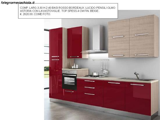 Cucina rosso bordeaux n 205 m v falegnameria chiola - Cucina bordeaux ...