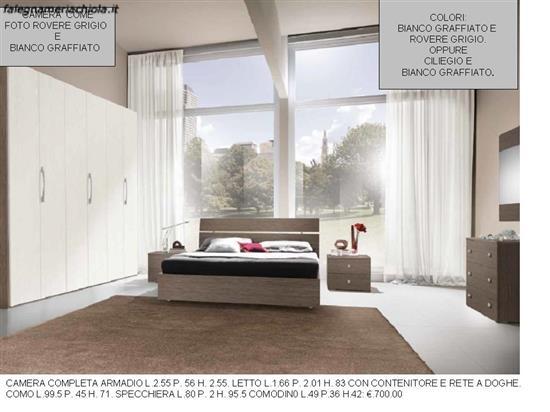 Camera Da Letto In Rovere Grigio : Camera colori rovere grigio e bianco graffiato n. 2 m va