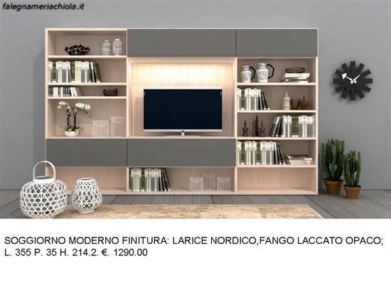 SOGGIORNO CON PORTA TV E LIBRERIA N. 29 M. VI. | Falegnameria Chiola