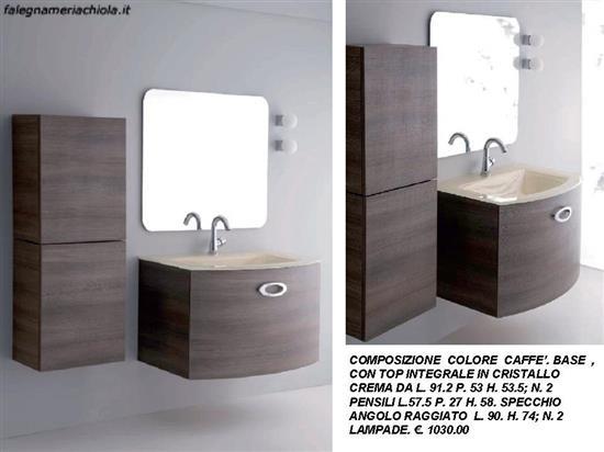 Bagno colore caffe con due pensili laterali n 103 m el for Pensili bagno moderni