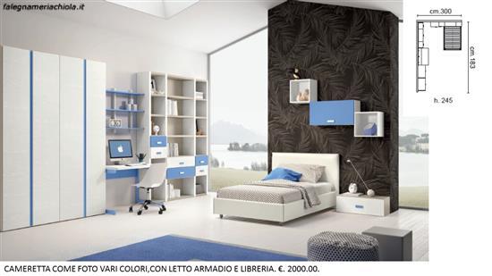 Armadio Libreria Scrivania.Cameretta Con Armadio A 4 Ante Libreria E Scrivania N 45 M
