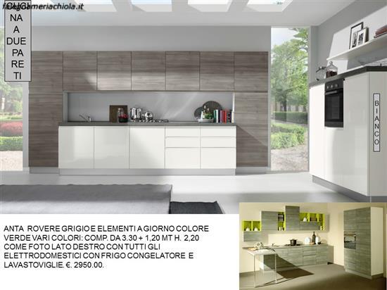 Cucine Moderne Bianco Grigio : Cucina grigio tranche e bianco lucido n m n falegnameria