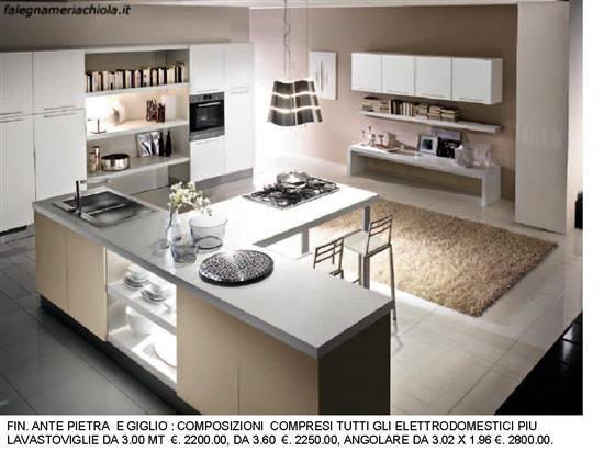 Cucina con penisola basi a t n 129 m h falegnameria - Cucine ad angolo con penisola ...