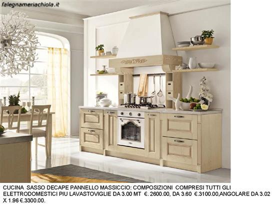 CUCINA CON CAPPA E MENSOLE DECAPE\' SASSO N. 77 C. H. | Falegnameria ...