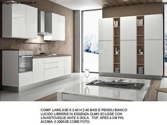CUCINA BIANCO LUCIDO N. 198 M. V. | Falegnameria Chiola