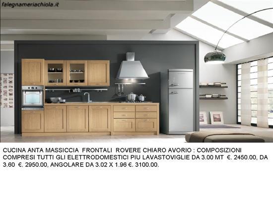 CUCINA ROVERE CHIARO N. 111 C. H. | Falegnameria Chiola