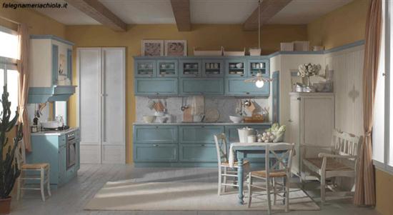 Cucina su misura decape azzurro falegnameria chiola for Verdino arredamenti