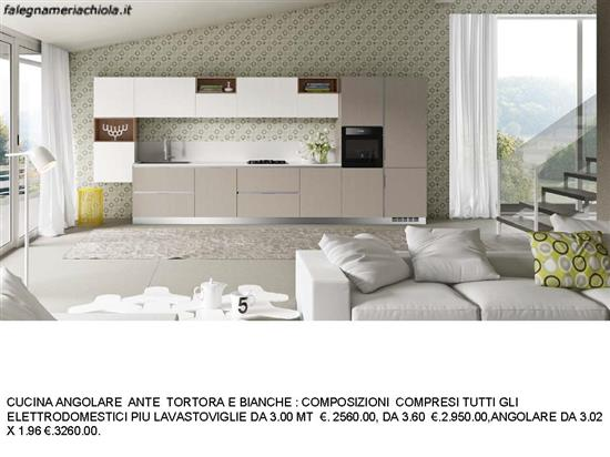 CUCINA ANTE TORTORA E BIANCHE N. 97 M. ES. | Falegnameria Chiola