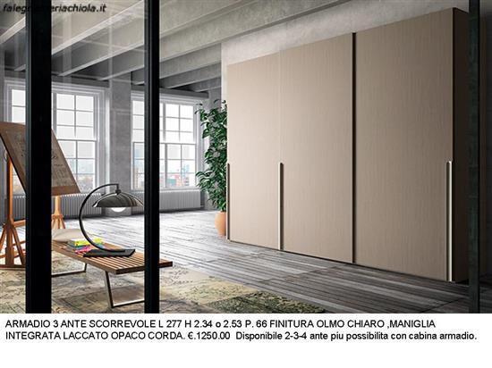 ARMADIO 3 ANTE SCORREVOLI COLOR OLMO N. 9 M.VI. | Falegnameria Chiola
