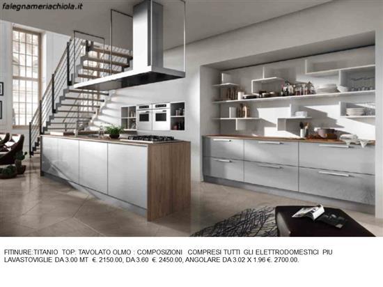 Cucina con cappa a soffitto n 11 m h falegnameria chiola - Cucina con cappa ad angolo ...