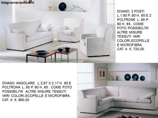 Divano e posti e due poltrone e divano angolare 3 2 n 66 m f falegnameria chiola - Divano angolare 2 posti ...