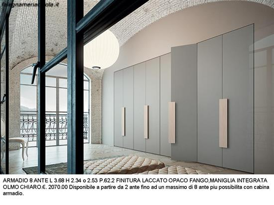 ARMADIO 8 ANTE A MURO N. 3 M.VI | Falegnameria Chiola