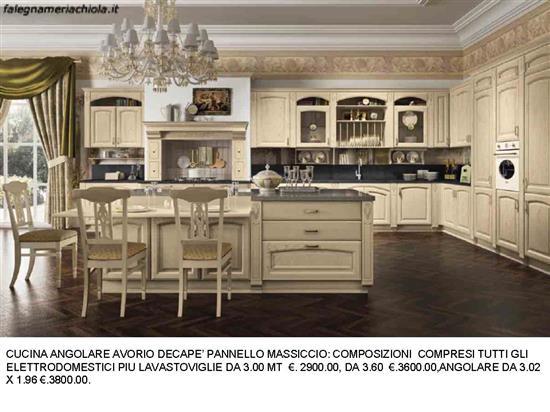 Cucina angolario avorio decape n 173 c h falegnameria - Cucine color avorio ...