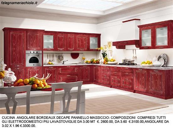 CUCINA DECAPE\' BORDEAUX ANGOLARE N. 78 C. H. | Falegnameria Chiola