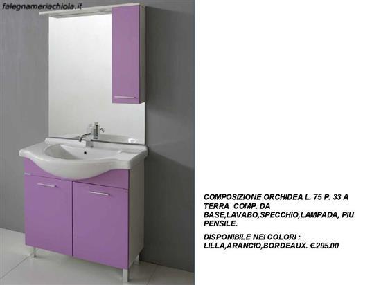 Mobile Bagno Lilla : Offerte mobili bagno offerte arredi bagno in legno outlet mobili