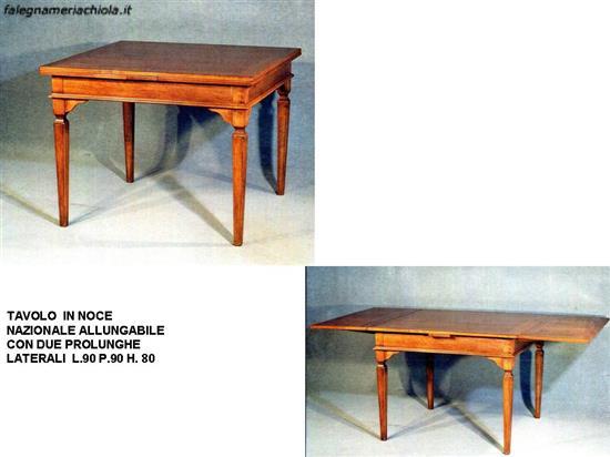 Tavoli Classici In Legno.Tavolo Quadrato Allungabile N 11 C Cp Falegnameria Chiola