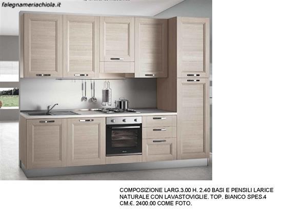 CUCINA LARICE NATURALE N. 185 M. V. | Falegnameria Chiola