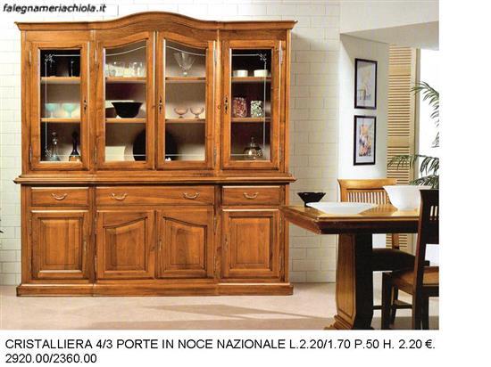 mobili soggiorno classico, mobili in legno soggiorno classico ... - Soggiorno Noce Nazionale 2
