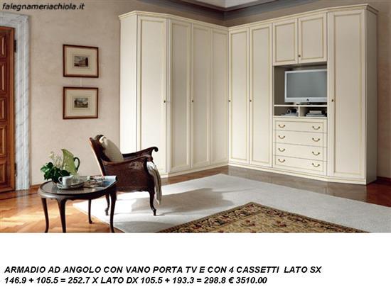 ARMADIO AD ANGOLO CON PORTA TV N. 32 C. VI. | Falegnameria Chiola