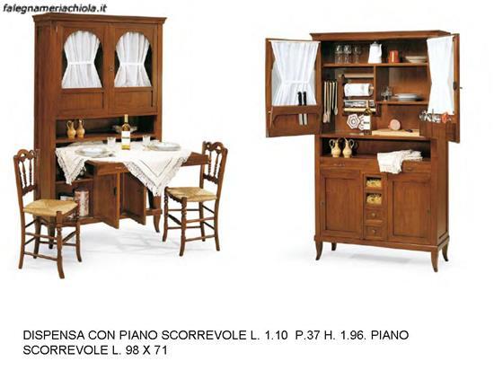 DISPENSA DA CUCINA CON PIANO SCORREVOLE N. 29 C.T. | Falegnameria Chiola