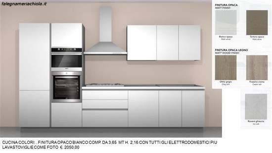 Credenza Con Forno : Cucina finitura bianco opaco con forno a microonde incorporato n. 75
