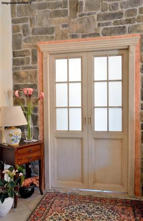 Porta laccata a due battenti n 5 c falegnameria chiola - Porta a doppio battente ...