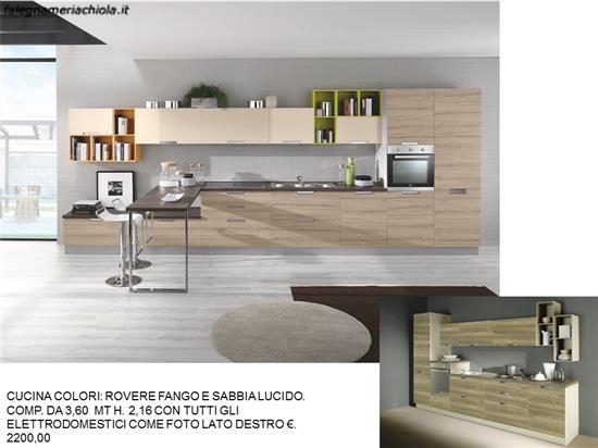 Cucine Moderne In Rovere Grigio.Cucina Rovere Fango E Sabbia Lucido N 225 M N