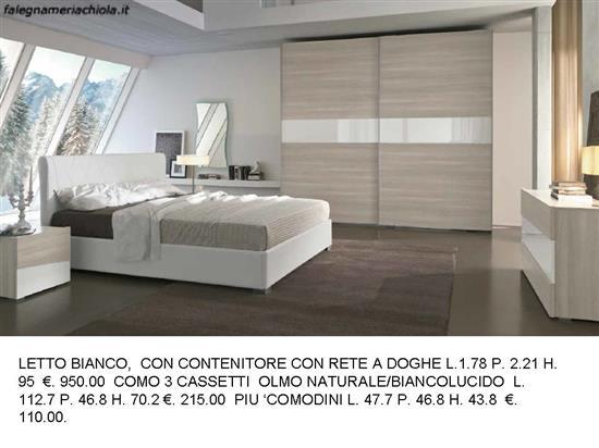 Camere Da Letto Con Contenitore.Letto Con Contenitore Bianco N 111 M Ma Falegnameria Chiola