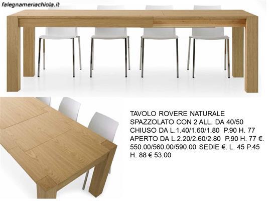 Tavoli In Rovere Naturale. Trendy Tavolo Allungabile Con Struttura ...