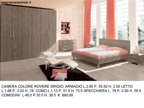 CAMERA MATRIMONIALE COLORE ROVERE GRIGIO N. 12 M. VA. | Falegnameria ...