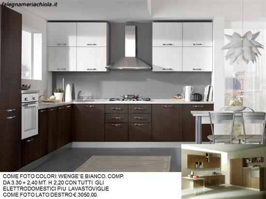 Cucine Moderne Colori.Cucina Colori Wenge E Bianco N 164 M N Falegnameria Chiola