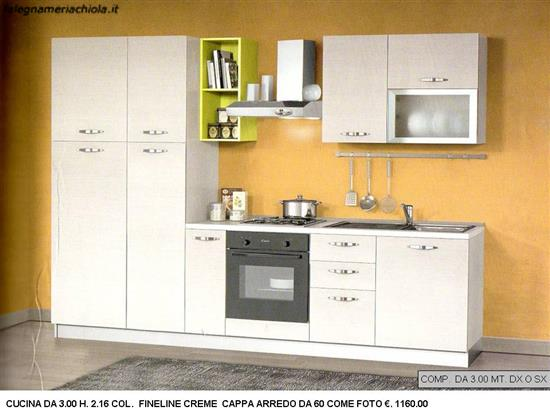 COMP.N. 31 OU N.S. CUCINA DA 3.00 MT CON COLONNA DISPENSA DA 45 CM ...