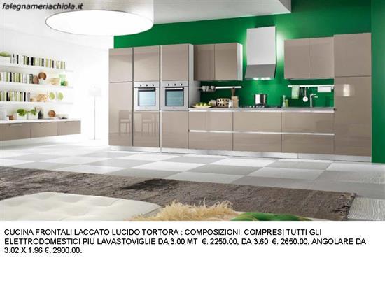 CUCINA LACCATO LUCIDO TORTORA N. 95 M. H.   Falegnameria Chiola