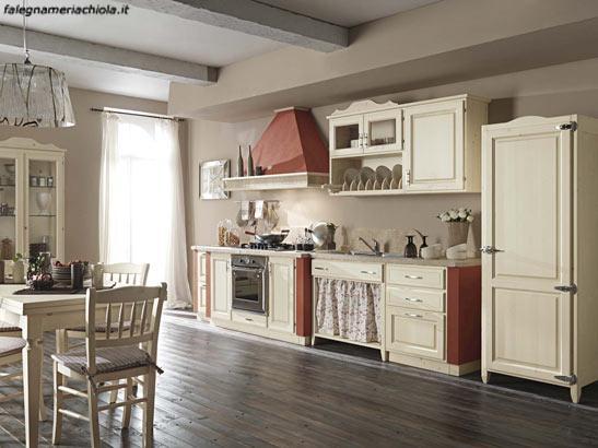 Cucina in muratura su misura decape avorio frassino falegnameria chiola - Mobili decape avorio ...