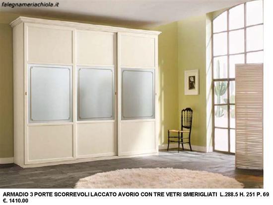 Porte Scorrevoli A 3 Ante.Armadio 3 Ante Scorrevoli Con Vetri Smerigliati N 27 C Vi