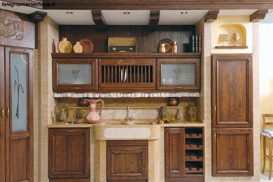 Cucine In Finta Muratura Usate.Cucina In Muratura Su Misura In Castagno Falegnameria Chiola