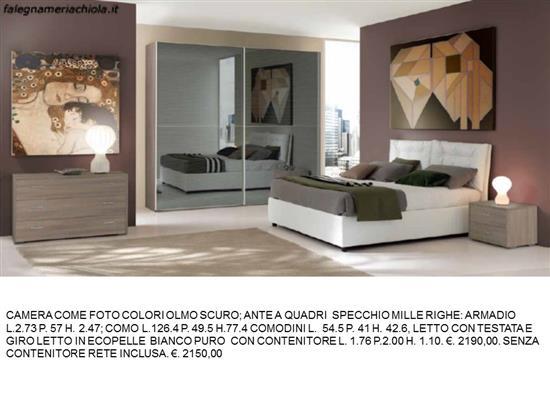 Camere A Righe : Camera matrimoniale con armadio scorrevole e specchio mille righe