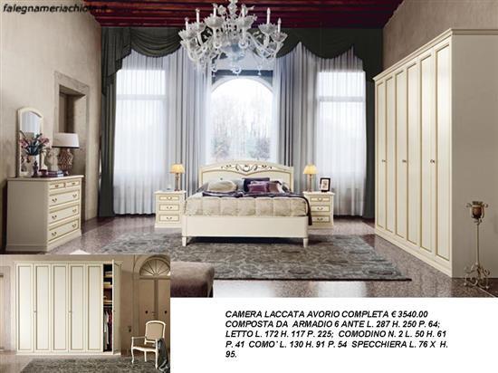 CAMERA MATRIMONIALE COMPLETA N. 10 C. VI. | Falegnameria Chiola