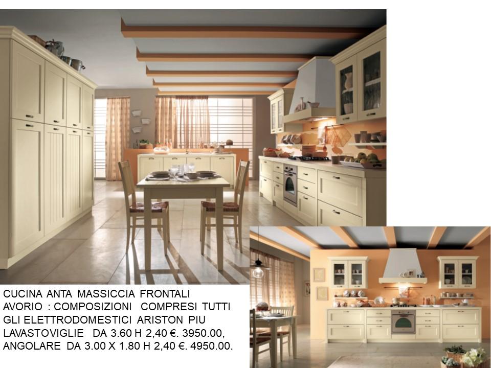 CUCINA MASSICCIA COLORE AVORIO N 100 C H | Falegnameria Chiola